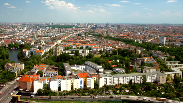 Berlin Skyline, Time Lapse, TV Tower in the background video