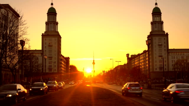 Berlin Skyline with sunlight video