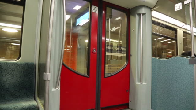 Berlin subway train departing German S-Bahn train departing in Berlin railroad station platform stock videos & royalty-free footage