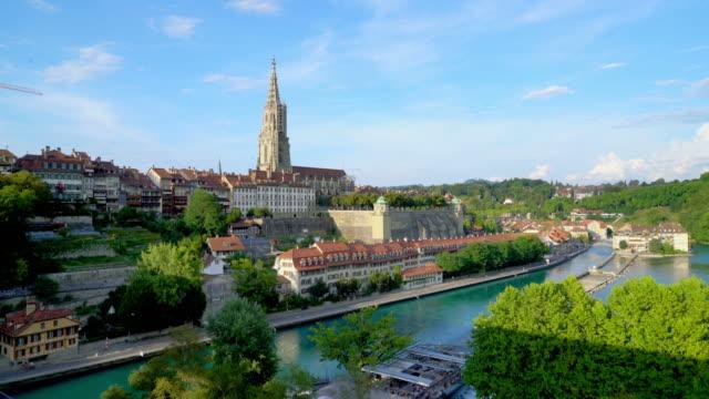 bern city in switzerland - szwajcaria filmów i materiałów b-roll