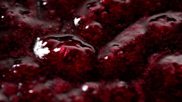 Berries sauce boiling video