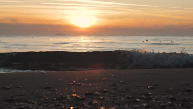 bästa vackra solnedgång eller soluppgång på paradissandstranden på ön i slow motion - indiska oceanen bildbanksvideor och videomaterial från bakom kulisserna