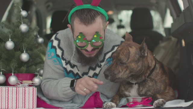 Best Friends Celebrating Christmas Inside The Car video