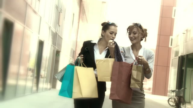 HD SLOW-MOTION: Best Friends Shopping video