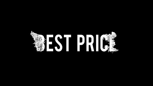 Best price motion poster, banner text. Big sale, clearance.