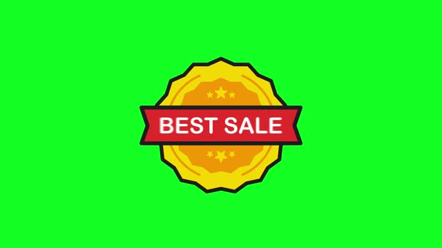 Best Sale Price Tag Stamp in flat style on white background. Motion graphic.