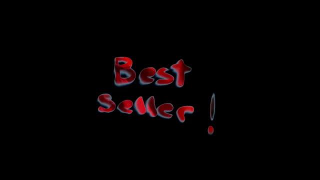 'Best Seller' kinetic words - six variations video