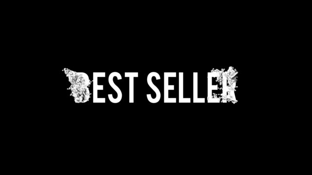 Best seller motion poster, banner text. Big sale, clearance.