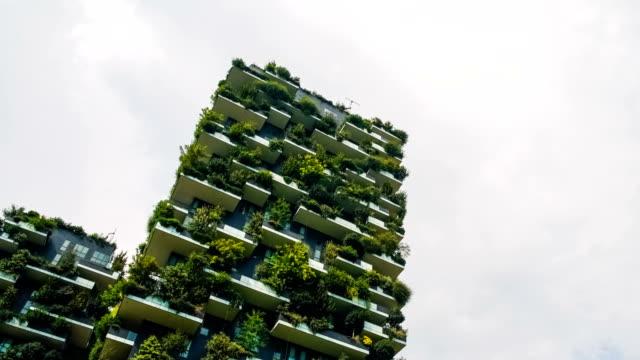 世界最高の高層建築 - 緑 ビル点の映像素材/bロール