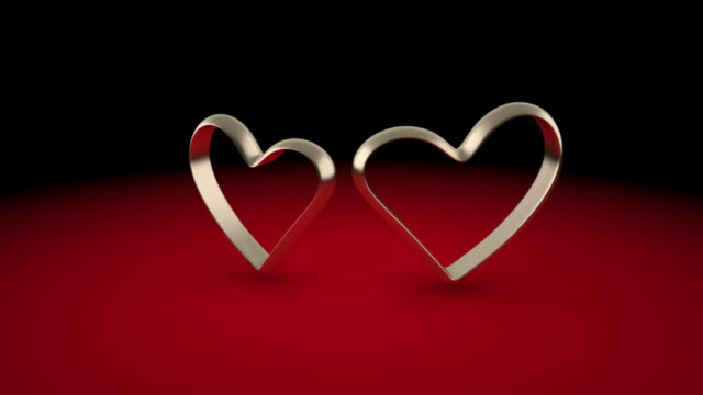 Betrothed hearts. A meeting and parting video