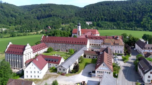 stockvideo's en b-roll-footage met beuron archabbey in de oberdonau vallei - klooster