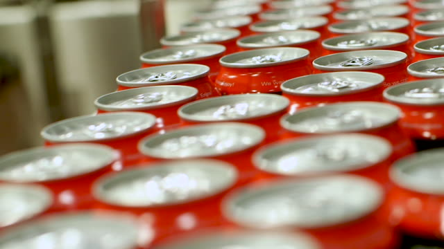 Beverage Cans with Pop Tabs Beverage Cans with Pop Tabs soda stock videos & royalty-free footage