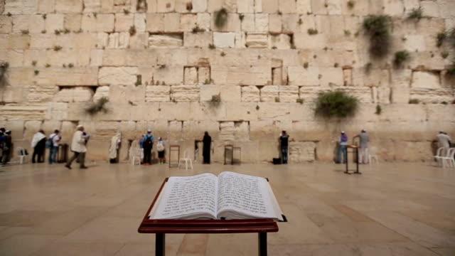 Bible book Wailing Wall Jerusalem video