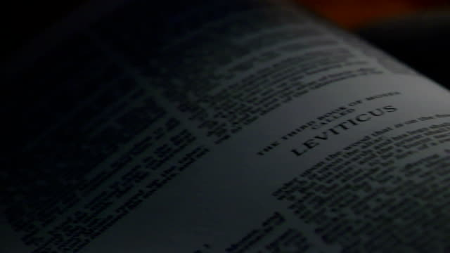 bibel leviticus - neues testament stock-videos und b-roll-filmmaterial