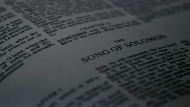 bibel song of solomon - neues testament stock-videos und b-roll-filmmaterial