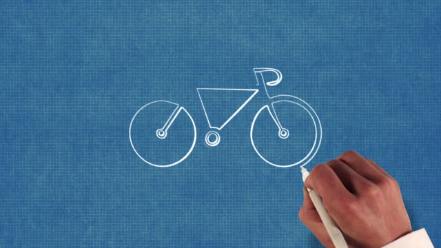 Bicycle Blueprint Stop-Motion Style Animation video