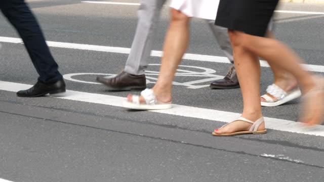 bicycle lane - пешеход стоковые видео и кадры b-roll