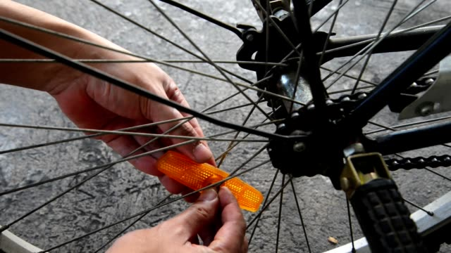 Bicycle light reflector installation