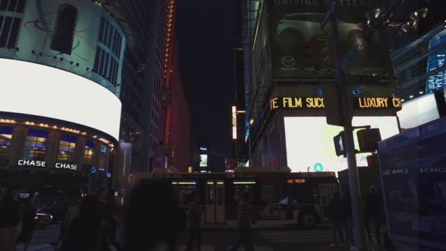 Bicycle POV:night in Madison Square Garden, NY city