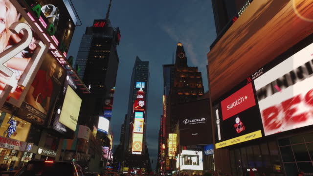 Bicycle POV:night in Madison Square Garden, NY city video