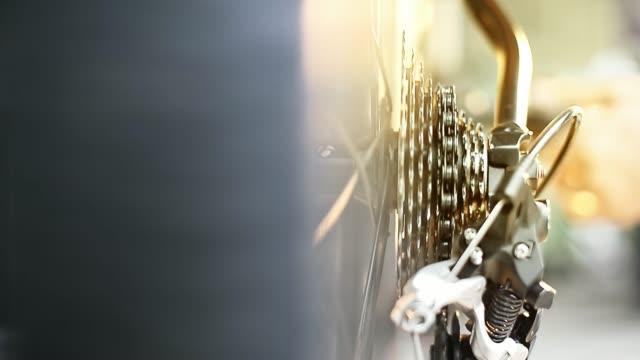 自行車部分, 卡式鏈 derailieur - 部分 個影片檔及 b 捲影像