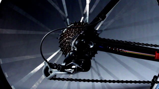 Bicycle rear wheel spinning video