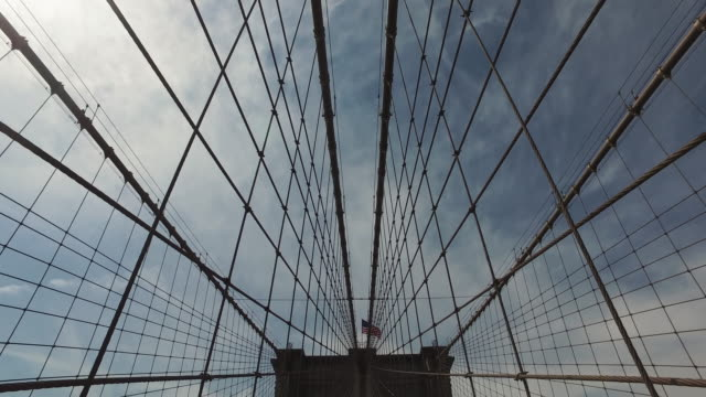 bicycle pov: ride by the brooklyn bridge, ny city - new york architecture stock videos & royalty-free footage