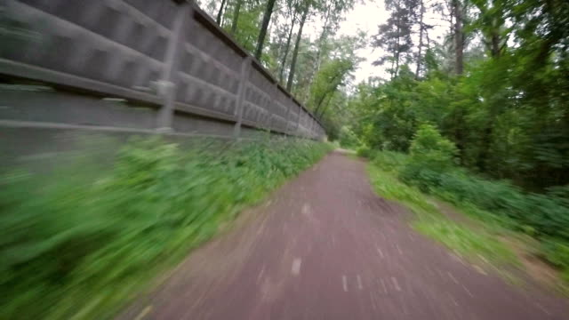 Bicycle ride through the park video