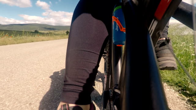 Bicycle riding,b roll.Point of view video