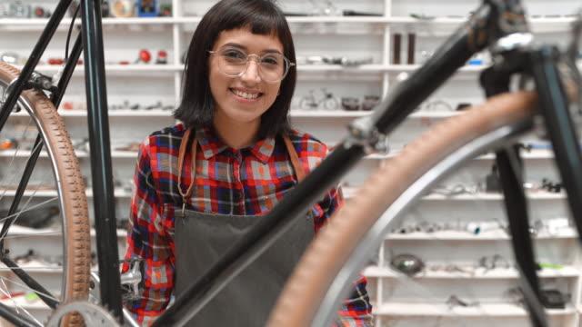 Bicycle shop owner portrait