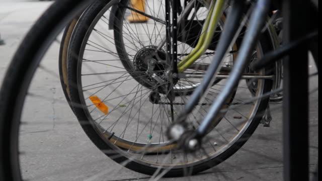 Bicycle wheels. video