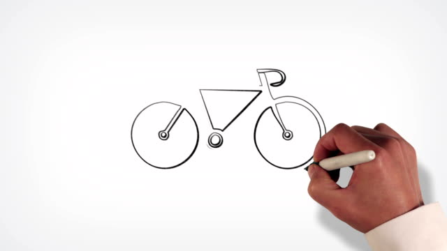 Bicycle Whiteboard Stopmotion Style Animation Stock Video Download Video Clip Now Istock