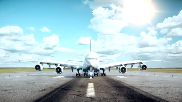 Big Airplane landing. video