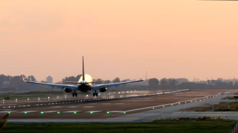 vidéos et rushes de grosse avion d'atterrissage. - avion