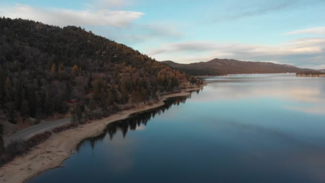 big bear lake california aerial footage - bear stock videos and b-roll footage