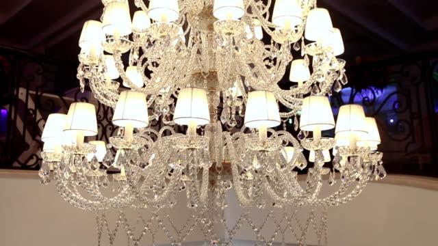 big beautiful vintage chandelier, Classic chandelier, beautiful decoration video