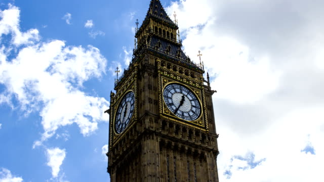 big ben and clouds, time lapse, london - victorian architecture stock videos & royalty-free footage