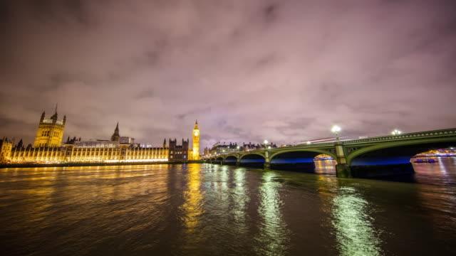 T/L Big Ben and Parliament at night video