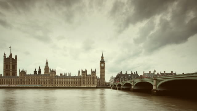 big ben and parliament in london timelapse - victorian architecture stock videos & royalty-free footage