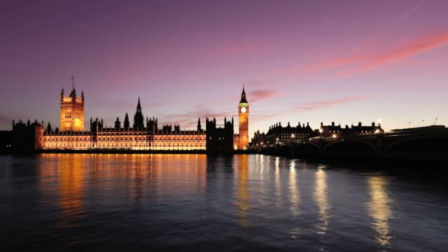 Big Ben and River Thames at Dusk Timelapse, HD Video video