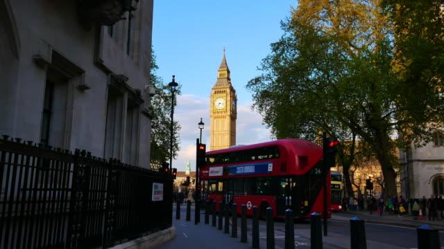 4K Big Ben and Trafalgar Square  in London, UK video