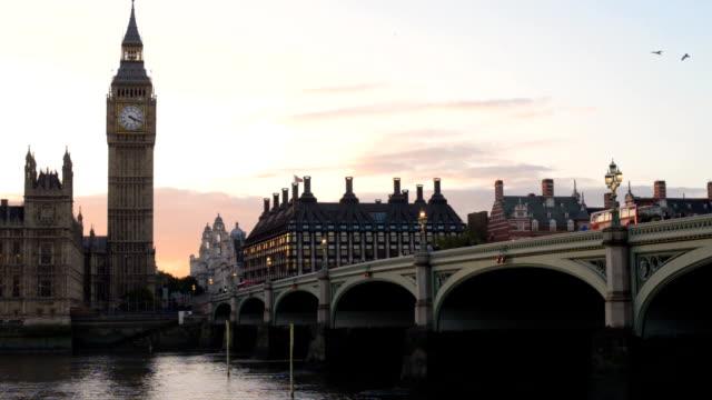 Big Ben at sunset video