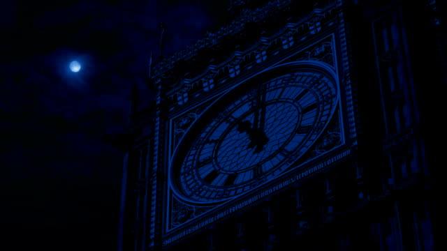 Big Ben Clock Face At Night