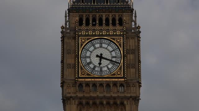 Big Ben Clock Face time lapse video