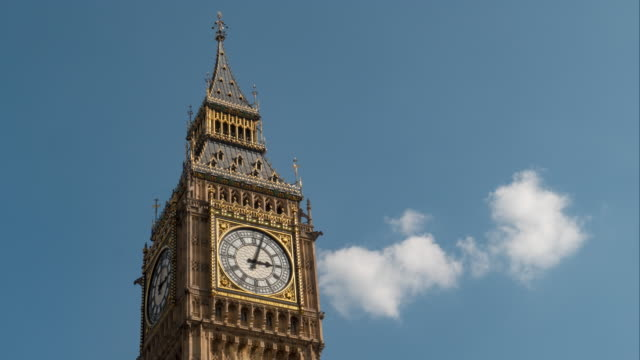 Big Ben Clock Time Lapse