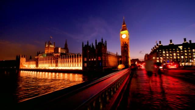 4K Big Ben, London eye and Westminster abbey in London, UK video