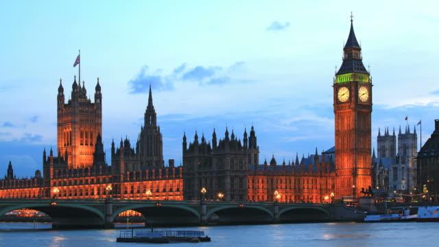 Big Ben London Time Lapse at Dusk video