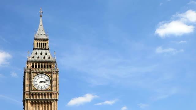 Big Ben, London, UK - time lapse. video