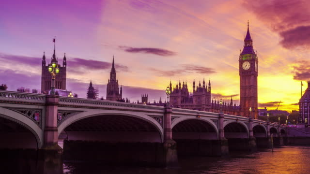 big ben, nice transition from day to night, london, uk - london architecture stock videos & royalty-free footage