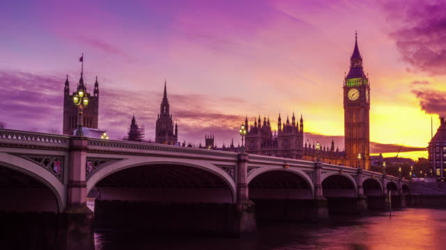 Big ben, nice transition from day to night, London, UK video
